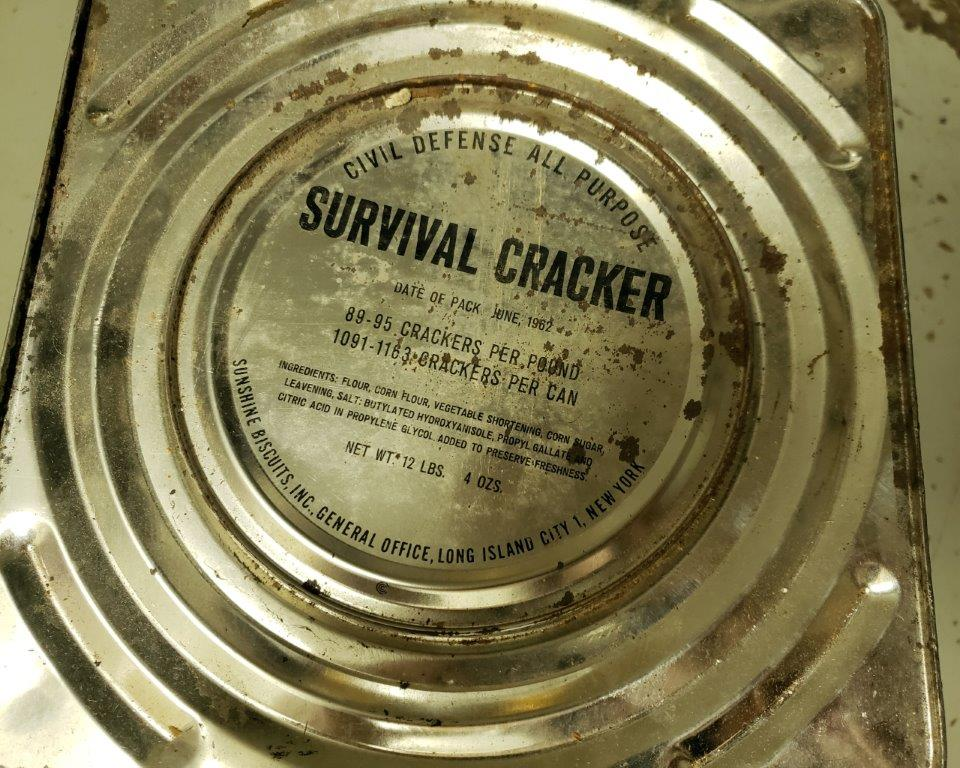 Civil Defense Ration Survival Crackers - July 1962, Never Opened