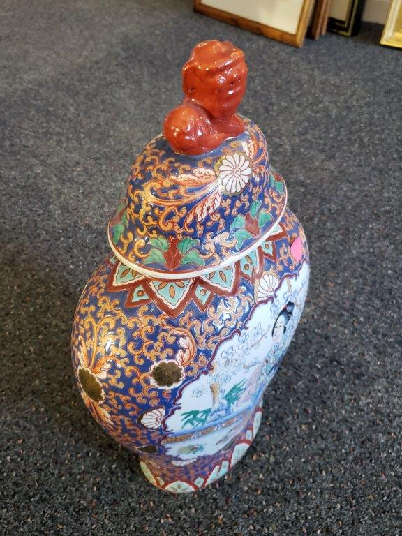 Pair of Chinese Porcelain Temple Jars